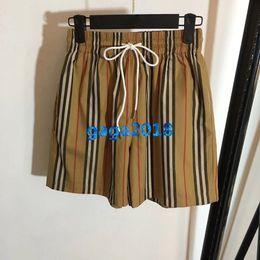 $enCountryForm.capitalKeyWord NZ - women girls vintage check drawstring shorts pants striped letter print jogging loose shorts skirt mini pant high-end fashion luxury dress