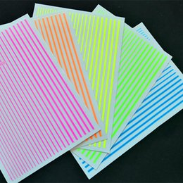 $enCountryForm.capitalKeyWord UK - 1PC 3D Fluorescent sticker Curve Stripe Lines Nails Stickers Adhesive Striping Tap Ornaments Nail Art Tool Manicure Accessories