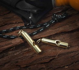 $enCountryForm.capitalKeyWord Australia - Child Brass Emergency Survival Whistle Keychain Pendant Portable Outdoor EDC Tool Pets Training Whistle Support FBA Drop Shipping M71R