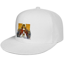Background Prints Australia - David Bowie Background HD Snapback Baseball Cap Low Profile Cotton Caps Relaxed Adult Mens Women Hats