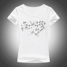 $enCountryForm.capitalKeyWord Australia - Summer FashionMusic Style T shirt Women Note Hum Hallelujah, just off the key of reason Print T-shirts Female Tops