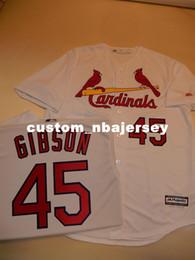 Baseballs Cheap Canada - Cheap custom BOB GIBSON SEWN Baseball Jersey WHITE New Stitched Customize any name number MEN WOMEN BASEBALL JERSEY XS-5XL