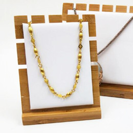 bamboo stands 2019 - Phenovo Bamboo Wood Jewelry Necklace Display Board Stands Holder Orgnaizer for Displaying necklaces bracelets anklets ch