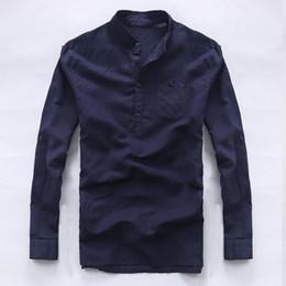 4656b8db8441 Italy brand long sleeve shirts men linen pure men shirt casual fashion shirt  mens business flax shirts male loose camisa chemise