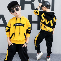 Kids Jackets S Letter Canada - New Fashionable Letter Spring Autumn Kids Clothes Sweatshirt For A Boy For Girls Cotton Hooded Jacket And Pants Blackpink Child