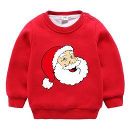 77f39f0b639f 2018 Winter Santa Claus Double Velvet Sweater Men and Women Baby Double  Plus Velvet Thick Sweater Wild Christmas