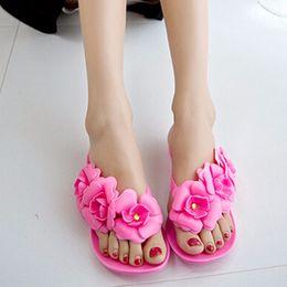 $enCountryForm.capitalKeyWord Australia - Cheap Summer Women's Slippers Flower Fashion Flip Flops for Ladies Outdoors Female Rubber Fashion Slippers Beach Shoes WS963