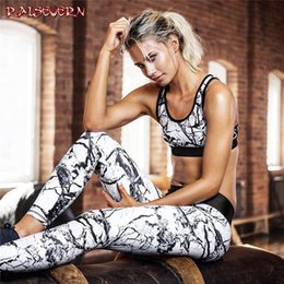 Piece Paintings Australia - RAISEVERN Oil Painting Print Women Two Piece Sets Outfits Sleeveless Crop Top +Pencil Pants Tracksuit Women Streetwear SportSuit
