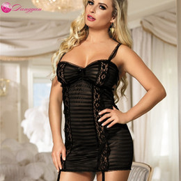adult women clothes NZ - DangYan sexy lingerie plus size adult sleepwear lace transparent erotic pajamas for women erotic costume sex clothes LY191224