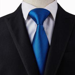 Gray Suit Champagne Tie Australia - New Royal Blue Stitching Necktie Men's Wide Ties Hankie Cufflinks Sets Striped Red Necktie for Wedding Party Suit Neckwear