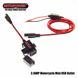 Wholesale MOTOPOWER MP0609A Amp Waterproof Motorcycle USB Charger Kit SAE to USB Adapter for Phone Tablet GPS Charger on the Ride