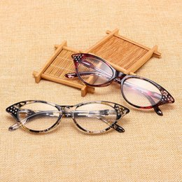 9bea4c9a494 Half Frame Reading Glasses Women cat eye Optical Mirror Glasses  Anti-Fatigue Hyperopia Women HD Resin Lens Presbyopic LJJV406