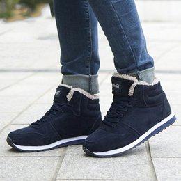 Sapatos Mulheres botas de inverno 2019 botas Plus Size 46 do tornozelo para Mulheres sapatos de neve Botas Mujer Sapatinho Casual Inverno Quente venda por atacado