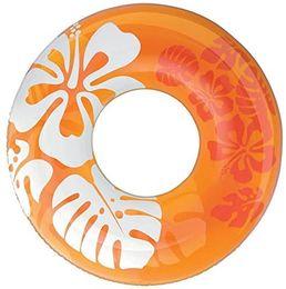 Inflável hibisco natação anel adulto grande remar anel do flutuador vida engrossado bóia tricolor opcional em Promoção