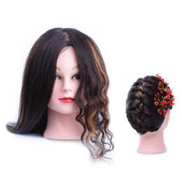 $enCountryForm.capitalKeyWord Australia - Coolhair4u Mannequin Head With Real Human Hair For Beauty Salon Hairdressing Practice Training Head Natural Black