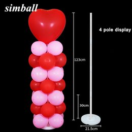 $enCountryForm.capitalKeyWord Australia - 2pcs Balloons Column Kits Arch Stand With Frame Base And Pole For Wedding Decor Birthday Party Decoration Kids Q190524