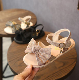 White Rose Pattern Australia - Children Casual Single Rose Girl Princess Shoes New Summer Kids Sandals For Girls Beach Sandals Ladies Bow Baby Child Shoes