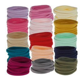hair for girls 2019 - Women Girls Hair Band Ties Rope Ring Colourful Elastic Hairband 21 Colors Hair Bands for Girls Ladies Ponytail Holder Ha