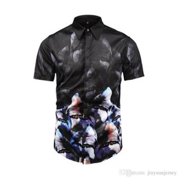 $enCountryForm.capitalKeyWord NZ - Wholesale- Envmenst 2019 Spring Newest Design Chinese Tradition Mask Printed Slim Shirt For Men Casual Dress Men S Retro Business Shirt