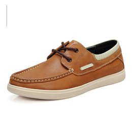 Great Shoe UK - Nice Great Cow Leather Boat Shoes Men Casual Lace-up Shoes Lightweight Breathable Loafers Slip-on Men Dress 6211 #55813