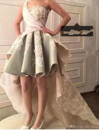 $enCountryForm.capitalKeyWord Australia - Charming one Shoulder Short Prom Dresses With Appliqued Hi Lo Custom MAde Formal Evening Dreses Vestido De Festa