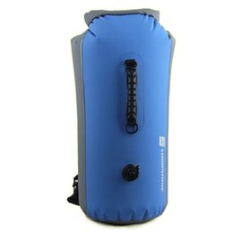 acf22213e7f7 60L PVC Professional IPX7 Waterproof Swimming Bag Inflatable Snorkeling  Rafting Drifting Diving Dry Bag Backpack Stuff Sack A30