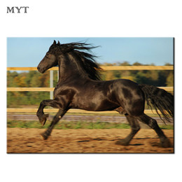 Cheap Wall Canvas Prints Australia - Cheap Wall Painting Animal spraying prints open country Horse Running HD printed Picture Home Decor for Living Room Oil Painting Unframed