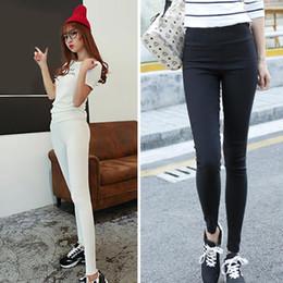 Flattering Clothes For Plus Size Australia - LiuHongjieHigh Waist Pencil Women Pants White Stretch Skinny Long Leggings Black Trousers for Female 2018 Autumn Women's Clothes Plus Size