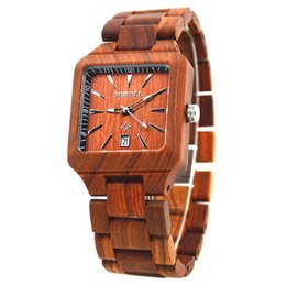 Hot Bar Australia - man watch 2018 BEWELL Hot sales Square popular luminous hands 30 bar waterproof wooden mens watches