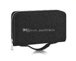 Korean Men Leather Bag Australia - New Zippy Xl Wallet Round Zipper Travel Case Black Purse Men Real Epi Leather M61506 Brown Passport Bag Holder Designer Damier Ebene Clutch