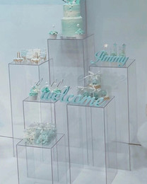 Acrylic tAble displAys online shopping - Flowers clear vase acrylic Stand flower Bouquet stands wedding Centerpieces Window craft display aisle road leads wedding flowers backdrops