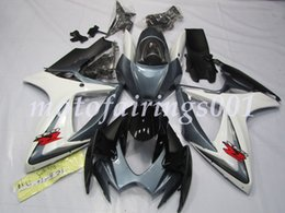 full fairing grey 2019 - New style ABS Injection Mold Full Fairings Kit Fit For Suzuki GSX-R600 R750 600 750 k6 2006 2007 free Grey and White dis
