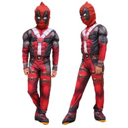 Wholesale full body deadpool costume for sale – halloween Kids Deadpool Costume With Mask Adult Man Fashionable Superhero Cosplay Suits Halloween One Piece Full Body Suit Festival Party Supplies