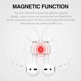 Новый магнитный ремешок для наушников для Airpods анти-потерянный ремень магнитная веревка для Bluetooth TWS наушники Силиконовый кабель шнур на Распродаже