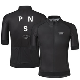 Quick Dry Shirts For Men Australia - 2019 Pro Team PNS Summer Cycling Jersey For Men Short Sleeve Quick Dry Bicycle MTB Bike Tops Clothing Wear Silicone Non-slip
