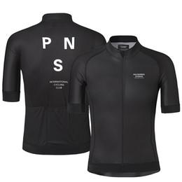 Toptan satış Erkekler Için 2019 Pro Team PNS Yaz Bisiklet Jersey Kısa Kollu Hızlı kuru Bisiklet MTB Bisiklet Giyim Aşınma Silikon kaymaz
