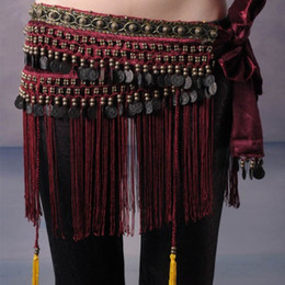 $enCountryForm.capitalKeyWord Australia - New Fashion Tribal Belts Belly Dance Hip Scarf Tassel Fringe Skirt With Copper Tribe Gypsy Belt 3 Colors Free Size