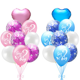 baby boy balloon decorations 2020 - Aluminum Foil Balloon Boys and Girls Gender Reveals Balloon Pink Blue Baby Shower Party Decorations Kids Birthday Balloo