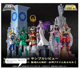 saints figure Australia - Original Bandai D.D.PANORAMATION scene saint seiya Gold myth cloth Shiryu Shun shaka Athena Seiya action figure Model 10CM