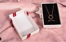 Necklaces Pendants Australia - 100pcs DHL Ribbon fashion bow jewelry box hot-selling gift jewelry box necklace pendant ring jewelry box,size:5.5x8.7x2.8cm