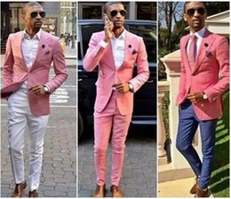 $enCountryForm.capitalKeyWord Australia - Cheap Men Suit Pink One Button Groom Suits Mens Groomsmen Slim Fit Best Man Prom Celebrity Groom Tuxedos Cheap(Jacket +Pant) CY015