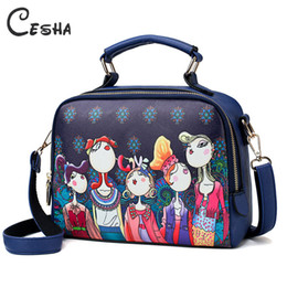 $enCountryForm.capitalKeyWord Australia - Luxury Fashion Cartoon Printing Women's Handbag High Quality Pu Leather Shoulder Bag Ladies Lovely Leisure Cartoon Bag Female