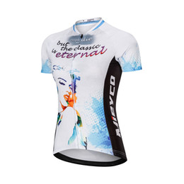 bicycle t shirts Australia - Retro Monroe Cycling Jersey Women Short Sleeve Cycle Clothing Racing Fit MTB Bike Clothes Bicycle T Shirts Ropa Ciclismo Design
