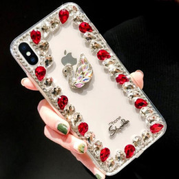$enCountryForm.capitalKeyWord Australia - Luxury Rhinestone Designer Phone Case For Iphone X XR XS Max 8 7 6 6s plus S8 S9 S10 Note9 TPU +PC Cases Back Cover Skin Shell Hull GSZ533D