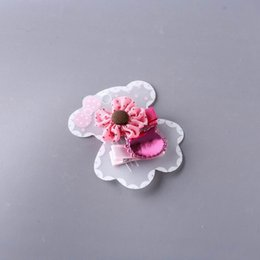 Small Hair Flower Clips Australia - Best-selling new children's hair card set, Korean version of the small flower PU cat full package hair clip baby head lace clip