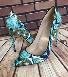stiletto party office shoes Australia - Hot Sale- Women Shoes Boots Green Snake Skin Painted 12cm 10cm 8cm Super Stiletto Iron-heeled Fashion Party Dress High-heeled Shoes