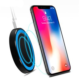$enCountryForm.capitalKeyWord Australia - 1PCS Newest Qi Wireless Charger For iPhone 8 X XR XS Max Samsung S10 S9 Wireless Portable Chargers with USB Port Special Offer