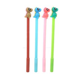 Office writing pens online shopping - Student Writing Gel Pen Cute Cartoon Learning Office Water Based Pen Dinosaur Silicone Head Creative Stationery Black Signature Pen