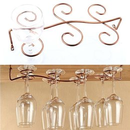 stemware wine glasses Canada - Wine Glass Rack Stemware Hanging Under Cabinet Holder Hanger Shelf Kitchen 6 or 8