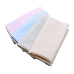 handkerchief Australia - 4PCS Baby Face Towel Handkerchiefs Wipe Towel Baby Bib Cotton Square Towels 21*21cm